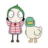 Sarah en eend