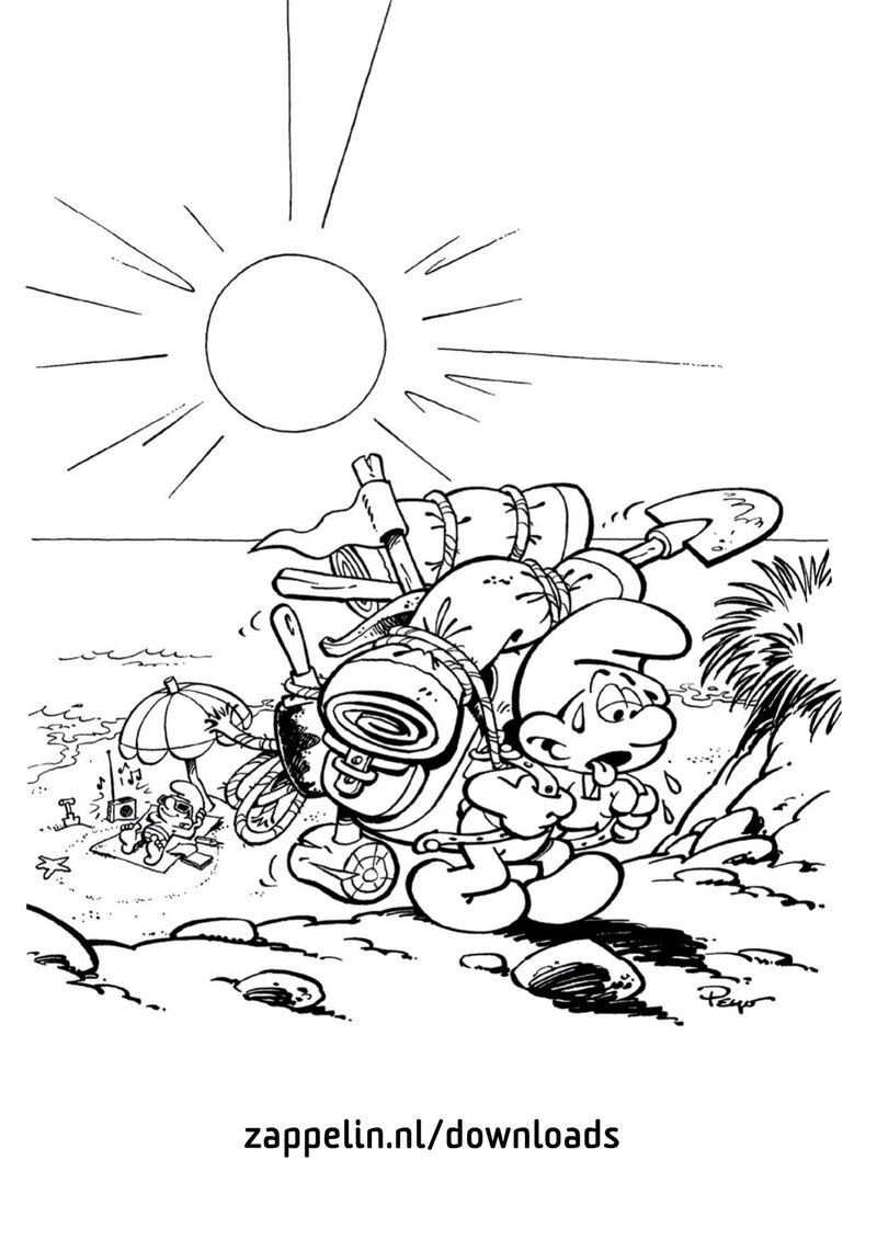 De Smurfen - woestijn