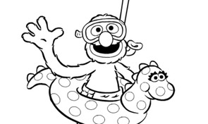 Sesamstraat - Grover zwemt