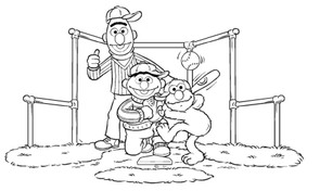Sesamstraat - honkbal spelen