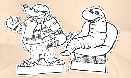 Koekeloere - kijkdoos