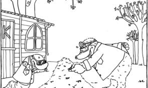 Kleurplaat: Mierenhoop van Moffel