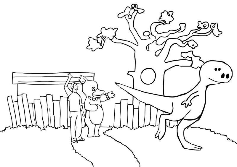 HoelaHoep - dinosaurus