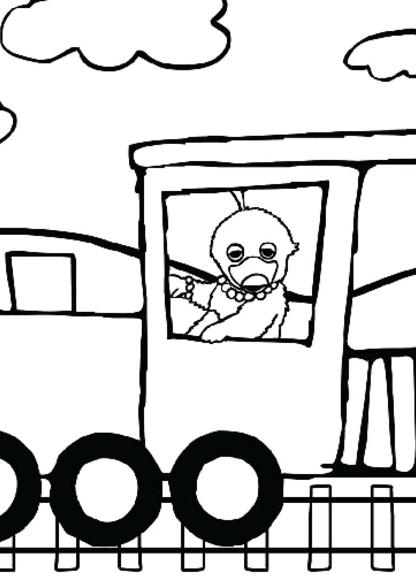 Kleurplaat Hoela In De Trein
