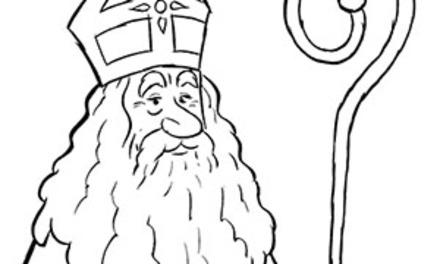 Kleurplaat: De Sint is er weer