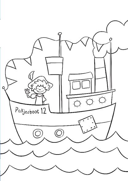 Kleurplaten Sinterklaas Stoomboot.Kleurplaat Sinterklaas Pakjesboot 12 Kleurplaten Diy Zappelin