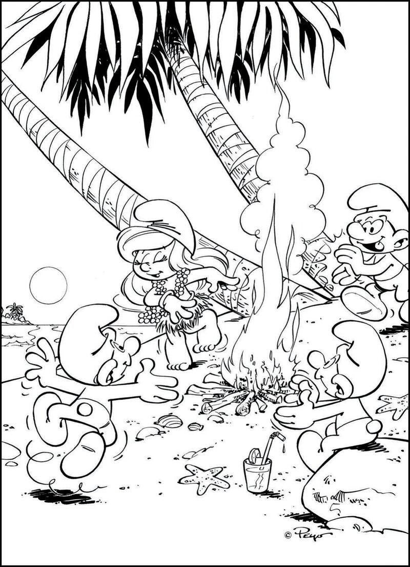 De Smurfen - op het strand