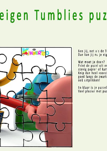 Tumblies   maak je eigen puzzel