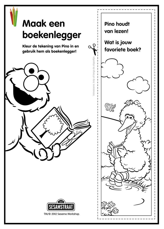 Sesamstraat - boekenlegger