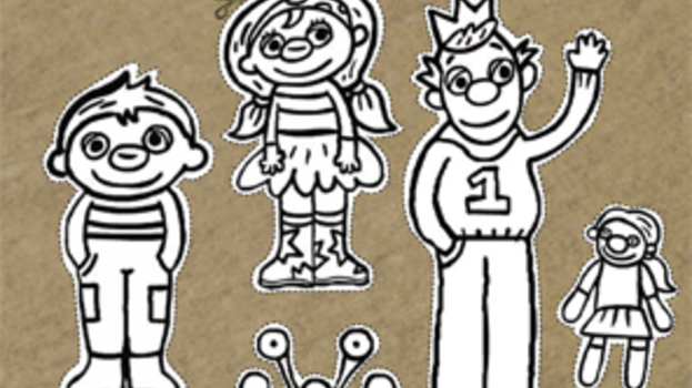 Knutselen: Het Zandkasteel - Sassa, Toto en Koning Koos op een stokje