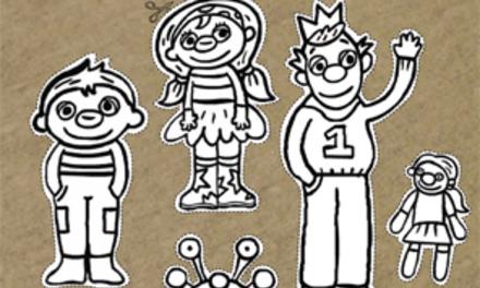 Het Zandkasteel - Sassa, Toto en Koning Koos op een stokje