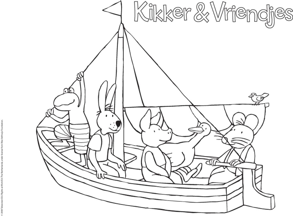 Hedendaags Kikker - varen - Kleurplaten - DIY - Zappelin TE-54