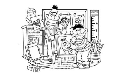 Sesamstraat - Bert en Ernie schilderen