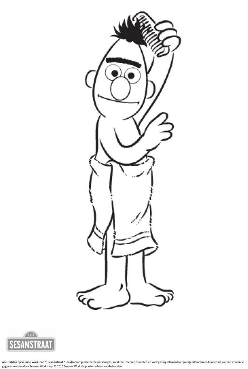 Sesamstraat - Bert kamt zijn haren