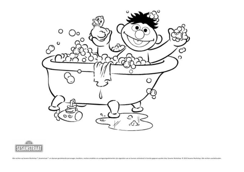 Sesamstraat - Ernie in bad