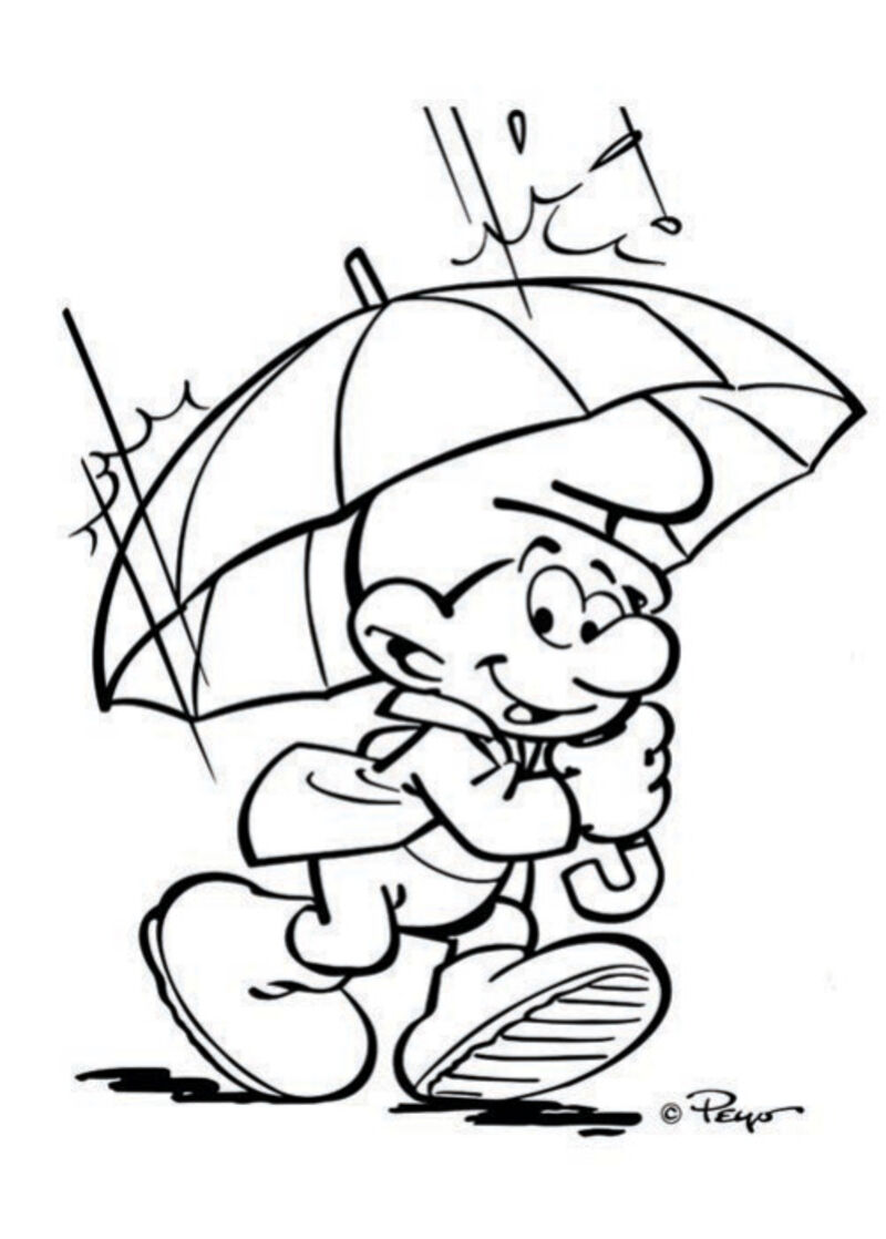 De Smurfen - paraplu
