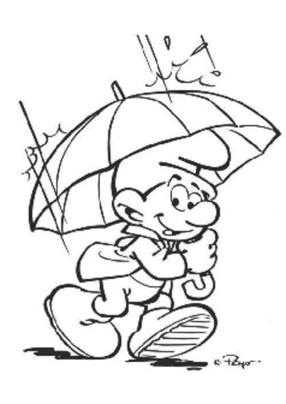kleurplaat regenlaarsje kidkleurplaat nl