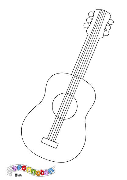 Apennoten gitaar