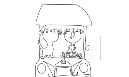 Pim & Pom - in de auto