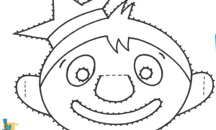 Het Zandkasteel - masker Toto