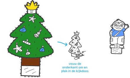 Knutselen: Maak een kerst-kijkdoos