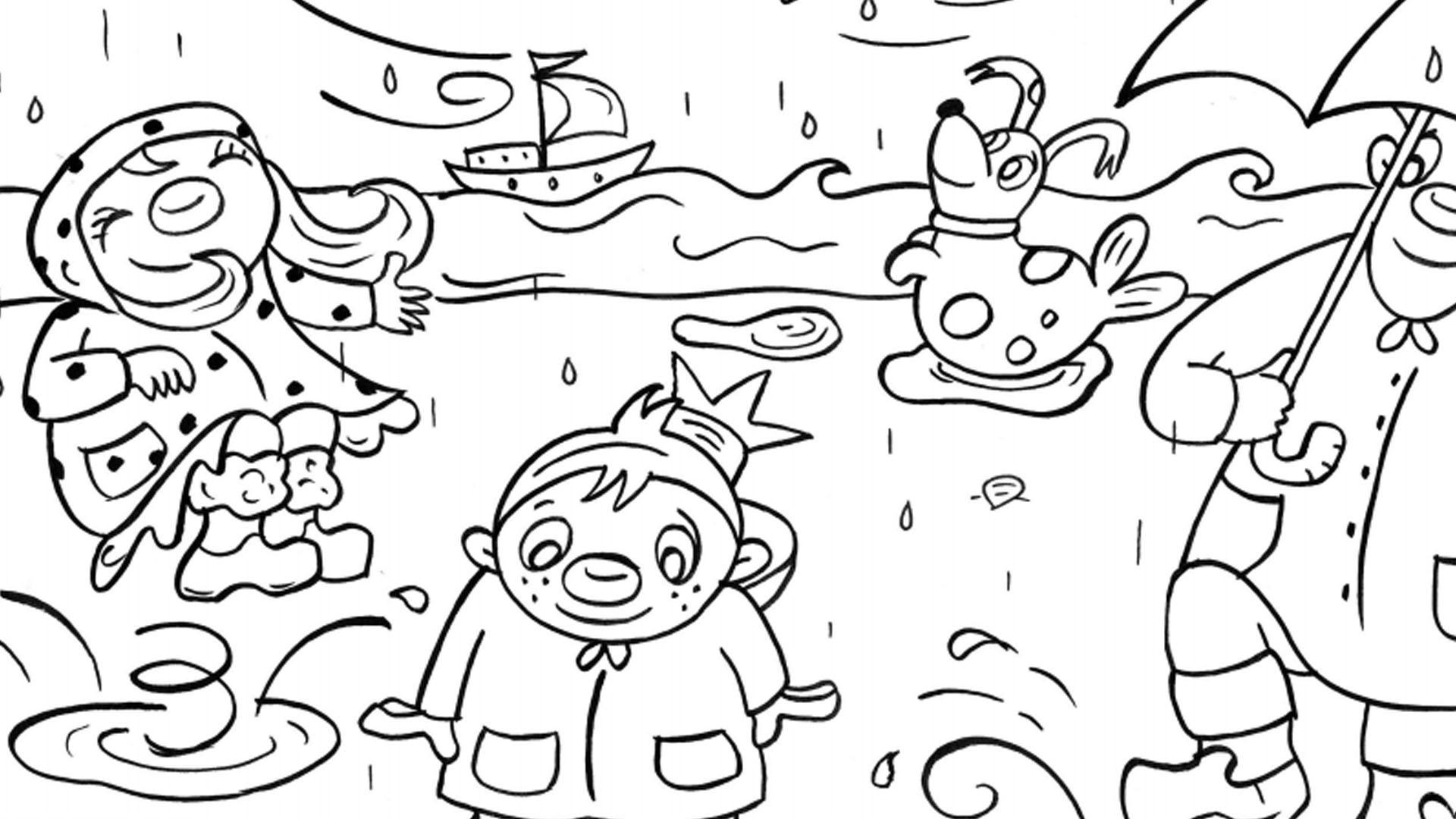 Het Zandkasteel - regen