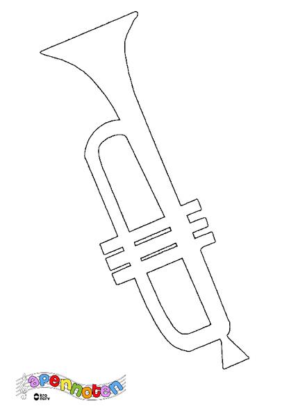 kleurplaat trompet kleurplaten diy zappelin