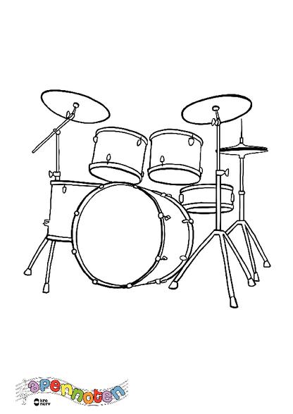 Kleurplaat Drumstel Kleurplaten Diy Zappelin