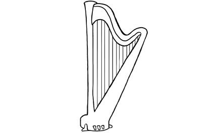 Apennoten - harp