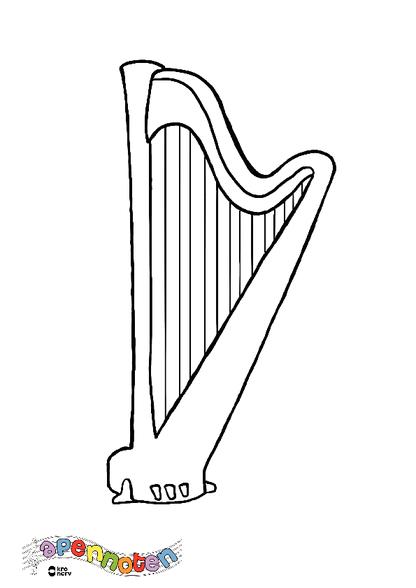 Woezel Kleurplaat Kleurplaat Harp