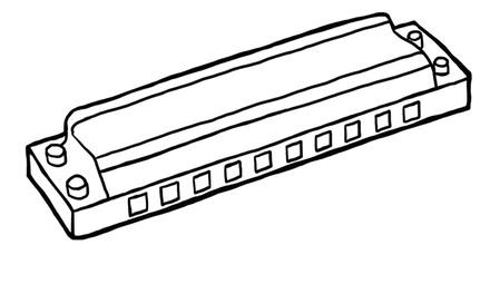 Apennoten - mondharmonica