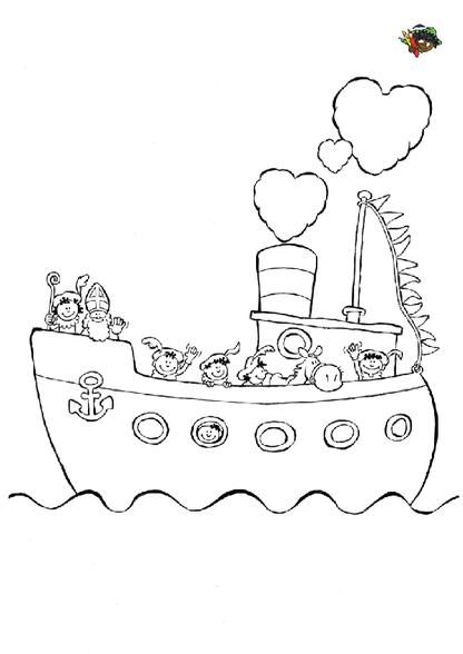 Kleurplaten Sinterklaas Stoomboot.Sinterklaas Stoomboot Kleurplaten Diy Zappelin