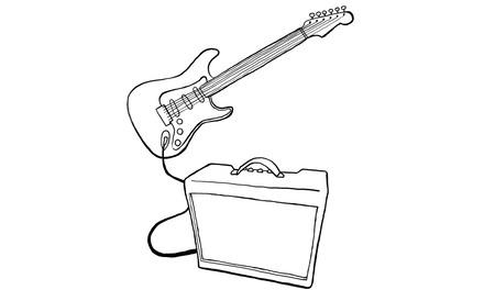 Apennoten - elektrische gitaar