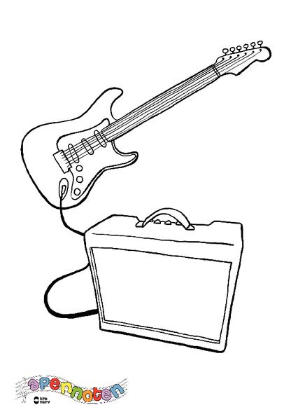 kleurplaat elektrische gitaar kleurplaten diy zappelin