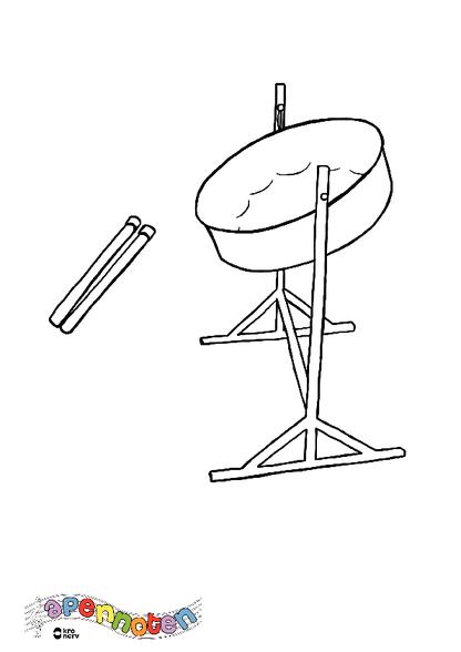 Kleurplaat Steeldrum Zappelin