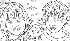 Casper & Emma op safari