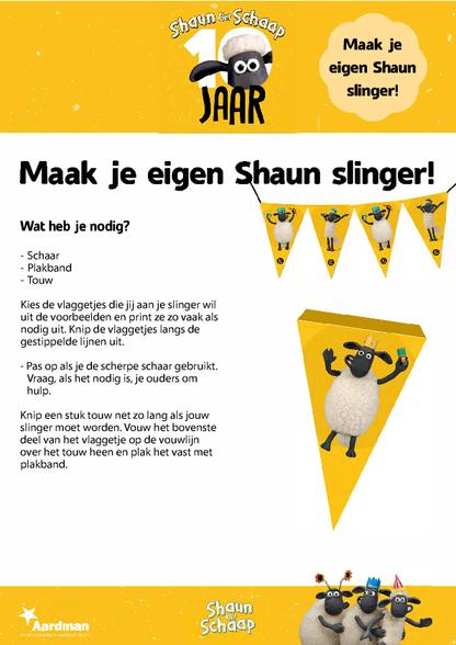 Feest Shaun Het Schaap Slinger Verjaardag Diy Zappelin