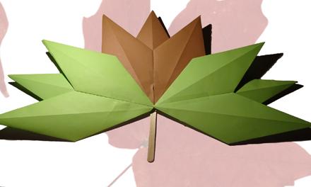 Knustel herfstblad