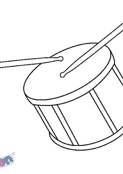 Kleurplaat Snare Drum Zappelin