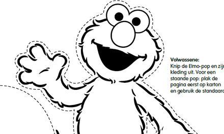 Sesamstraat - Elmo aankleedpop