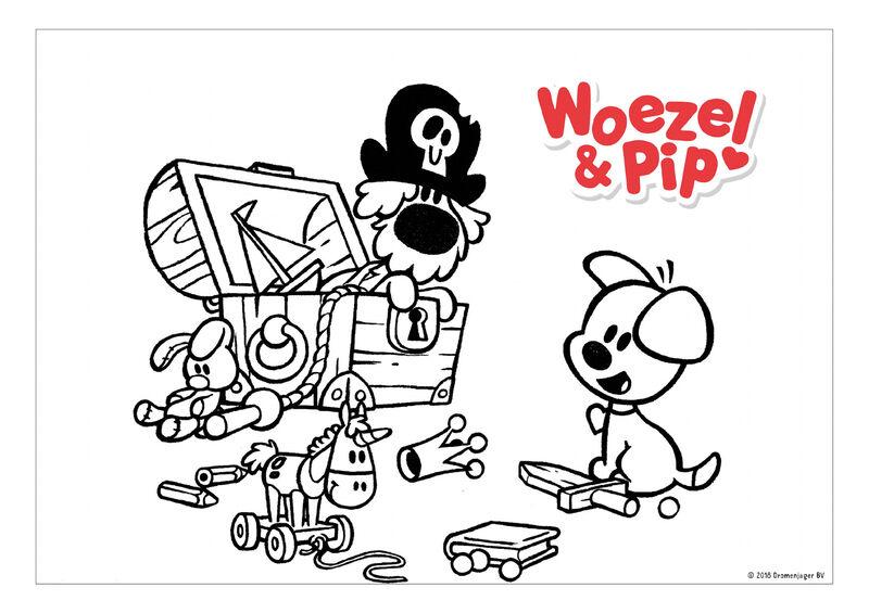 Woezel & Pip - speelgoedkist