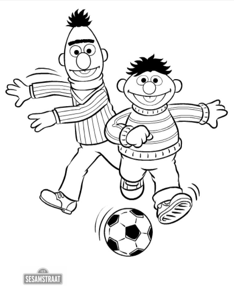 Bert ernie voetbal