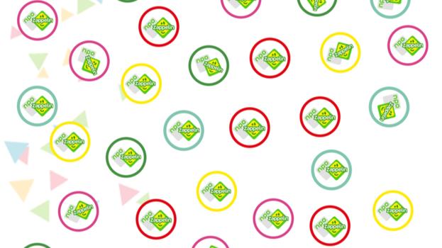 Feest: Zappelin confetti