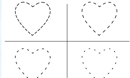 Pingu - hartje tekenen