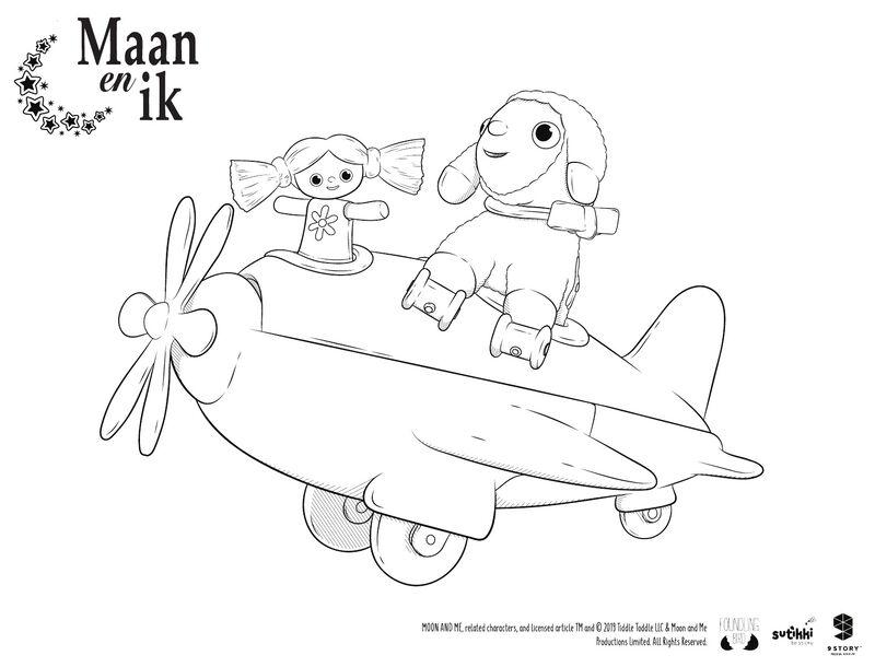 Maan en ik - kleine Nana en Lammetje
