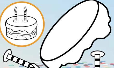 Zappelin - taart knutselen