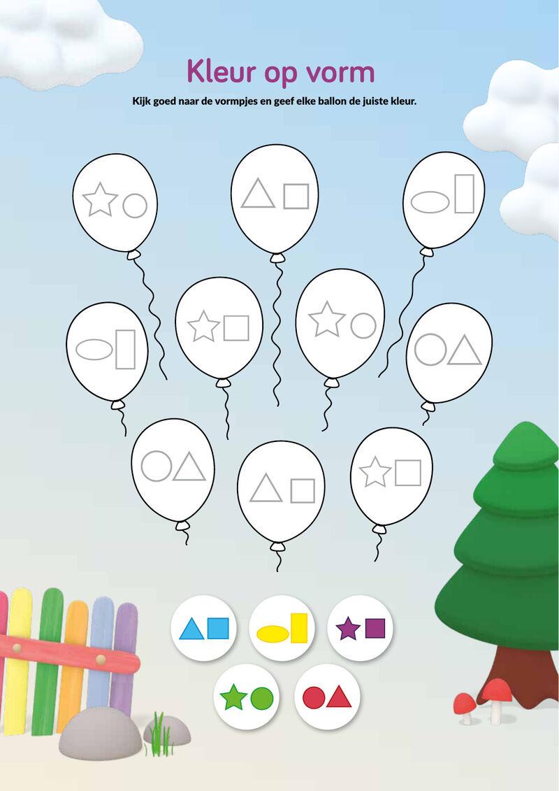 Zappelin - ballon vormpjes kleuren