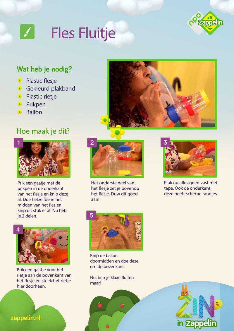 Zin in Zappelin - Fles fluitje
