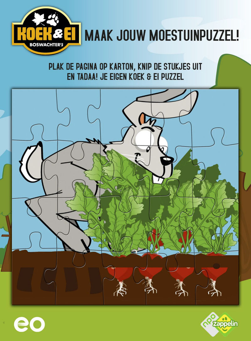 Koek & Ei - haas puzzel