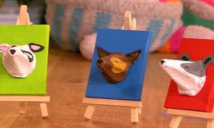 Zin in Zappelin - hondenschilderij